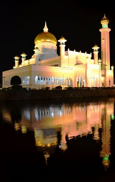 Brunei - Area: 5,765 sq km. Two small enclaves on the island of Borneo, separated by the East Malaysian state of Sarawak. Tropical, 70% forest, with heavy rainfall.Population: 407,045.  Capital: Bandar Seri Begawan. Official language: Malay, English. 17 All languages