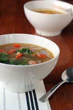 Chicken and Kale Soup (paleo, gluten-free)