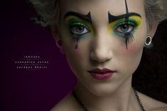 wonka alterego, costum, eye makeup, halloween fun, paint designs, halloween makeup, makeup ideas, makeup art, clown makeup