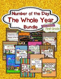 All twelve Number of the Day units on sale now!  From Mrs Balius's First Grade