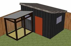 Design for a shed + chicken coop. Enough room for your backyard flock and all your garden tools. (via HipChickDigs)