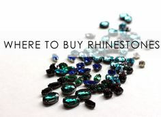 Bromeliad: Where to buy rhinestones in settings for DIY jewelry - Fashion and home decor DIY and inspiration