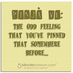 """""""PinJa Vu"""" from @Susan & Janice (5 Minutes For Mom) pinja vu"""