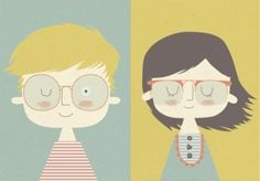 nerd boy + nerd girl.