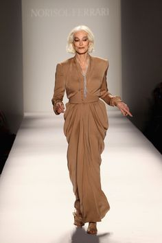 Carmen Dell'Orefice - Norisol Ferrari - Runway - Spring 2013 Mercedes-Benz Fashion Week