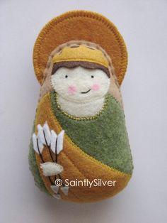 Saint Christina Felt Saint Softie by SaintlySilver on Etsy, $18.00