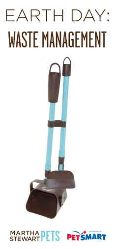 Happy #EarthDay! Clean up unsightly pet waste with the #MarthaStewartPets Shovel and Scoop Waste Kit. The adjustable telescoping handle prevents stooping and bending and contains built-in storage for waste bags, making clean up a breeze! Available at #PetSmart.