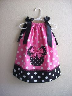 minnie mouse pillow case dress  I want to make this #minnie