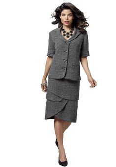 #Christmas 2012 #Gift Idea: Roamans #Plus Size Tweed #Skirt #Suit for her for only $38.99!!