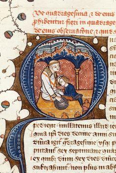 Quadragesima (Lent) Royal 6 E VII Author: James le Palmer TitleOmne Bonum (Ebrietas-Humanus) OriginEngland, S. E. (London) Datec. 1360- c. 1375