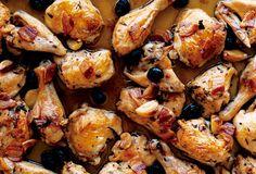 Gluten Free Roast Chicken with Pancetta and Olives