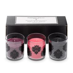 Forbidden Fruits scented candle trio Reg Price:  $35.00/set of 3    SALE Price: $16.00/set of 3