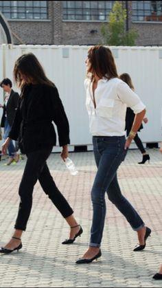 White Shirt/Jeans