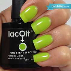 Nice Lime Mojito! from the New LacQit summer poolside / beach collection . 11.99 - 30 gel manicures per bottle . Www.lacit.com