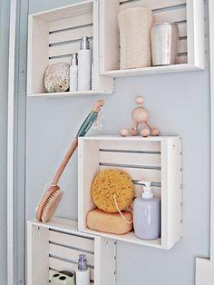 Storage Ideas For Small Bathrooms | ... storage ideas for small spaces : Wall Shelves Bathroom Storage Ideas
