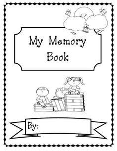 memori book, year memori, second grade memory book, teacher, memory books