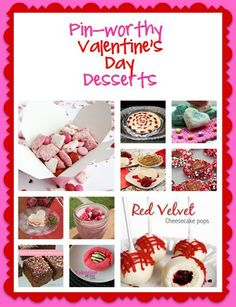 Valentine's Day Desserts: 25 Pin Worthy Recipes  #recipes #Valentines #desserts