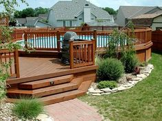 Outdoor , Get The Best Above Ground Pool Deck Ideas Pictures; Pick One : Above Ground Pool Deck Ideas Pictures