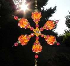 Image detail for -Hanging Beaded Spinning Sun Catcher Yard Art with Plastic Beads in ...