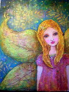 suzi blu art angel, fairi, artist, suzi blu art