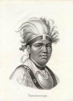 Mohawk Chief Tayadaneega by Brodtmann
