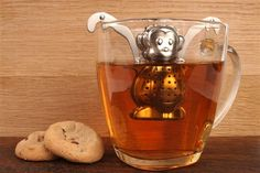 Monkey Tea Infuser by kikkerland: Adjustable arms to fit your cup! #Tea_Infuser #Monkey