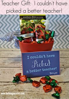 #DIY End of Year Teacher Gift: I Couldn't Have Picked A Better Teacher