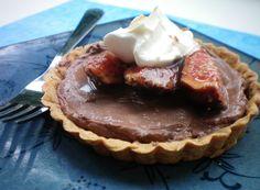 Chocolate Tarts with Honey Balsamic Figs