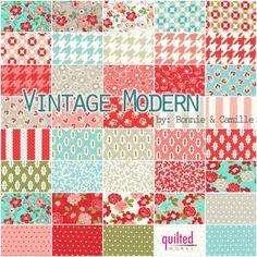 Love this fabric line...vintage-modern!