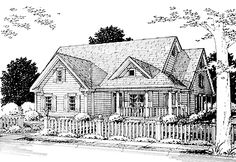 Packed with Practicality and Comfort (HWBDO09193) | Cottage House Plan from BuilderHousePlans.com  1,842 sq. ft 3 bedrooms, 2 bathrooms. Est. Cost to Build $174,000