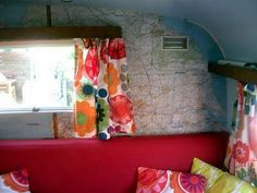 curtains, maps, wallpapers, the dreamers, travel trailers