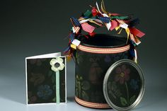 chalkboard paint can and card
