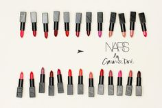 """I love lipstick. I think it changes your face."" NARS lipstick"