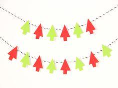 christmas tree garland diy tutorial