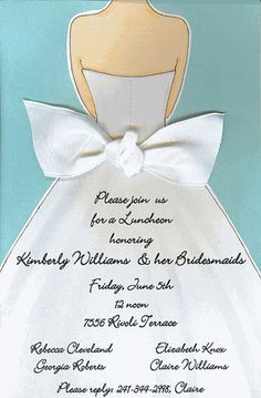 Bridal shower invitations, my sister used these for my invites and she attached white netting for a veil :)