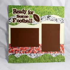 Ready for Some Football 12x12 Double Page by DazzleScrapbookPages, $10.00