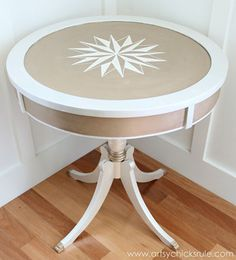 Warm Silver and Oyster Metallic Paint | Modern Masters Table Project by Artsy Chicks Rule