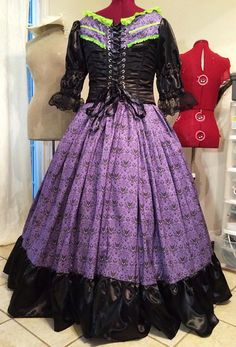 Haunted Mansion Inspired Victorian Dress (back view).  Wouldn't this be gorgeous to wear to Mickey's Not So Scary Halloween Party?!?