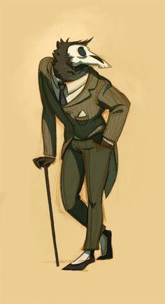 Detective Grimsley by honkfu.deviantart.com on @deviantART Cartoon, Inspir, Anna Cattish, Illustr, Simpli Art