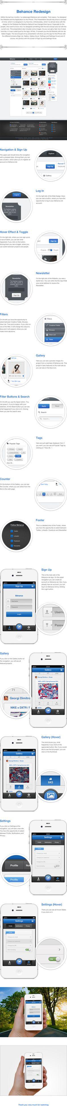 Behance Redesign by Daniel Fass, via Behance  #digitaldesign #design
