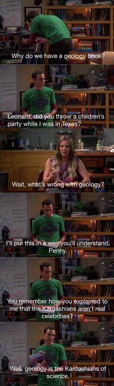 As a complete geology geek, I about cried from laughing so hard when I first saw that episode. :) :) :)