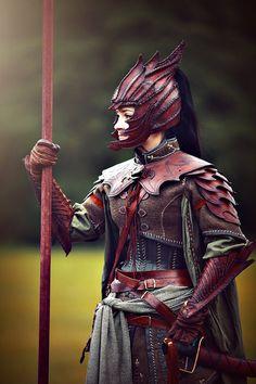 LARP costumeFemale Elven LARP Warrior Armor » LARP costume