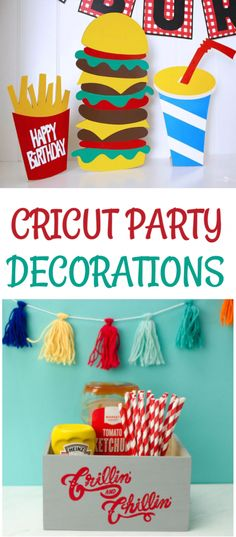When you've got a  Cricut die cutting machine in your craft room, you've got the perfect tool for  making any kind of party decorations you might need. Whether it's a birthday,  graduation, baby shower, or backyard BBQ, there are all kinds of great ideas  here! #cricut #diecutting #diecuttingmachine  #cricutmachine #cricutmaker #diycricut #diycricutprojects #cricutideas  #cutfiles #svgfiles #diecutfiles #cricutideas #diycricutprojects  #cricutprojects #cricutcraftideas #diycricutideas