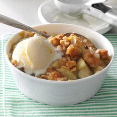 Winning Apple Crisp Recipe from Taste of Home -- shared by Gertrude Bartnick of Portage, Wisconsin