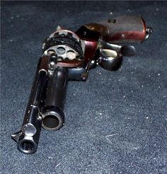 LeMat revolver. It's a revolver with an underslung shotgun.