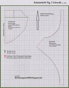 Kleidung um 1800: Short Stays Studies - Schnürleib Studien 2.0 (Patron Utrecht)