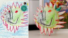 Turn your kids' drawings into 3d sculptures...