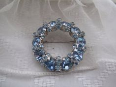 Warner Baby Blue Vintage Brooch by mimiyaya on Etsy, $35.00