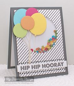 MFT Shaker Card—Use the Diagonal Stripes Background to add easy, classic pattern to cards and craft projects.