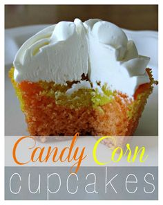 Easy Candy Corn Cupcakes from My Love for Words